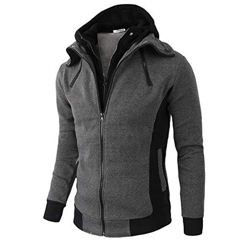 manadlian Hommes Veste Hiver Manches Longues Sweat à Capuche Zipper Mode Hauts Manteau Retro Hommes Vêtements Chaud Blousons Outwear 2019 Jacket Hooded Pull Coat