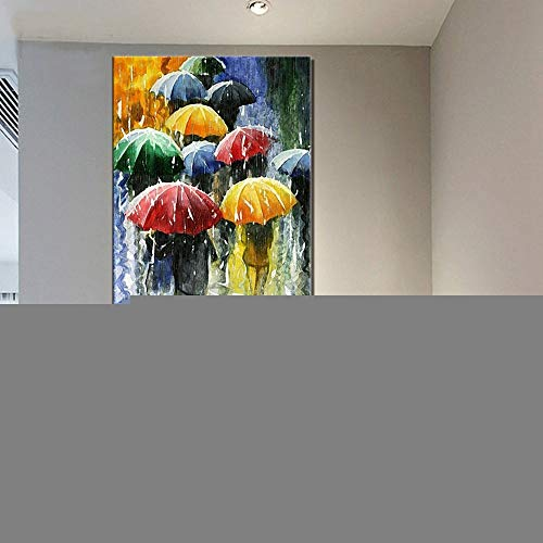 Diamond Painting Large Full Drill Paraguas de colores,DIY 5D Diamante Pintura by Numbers Kit Completo Diamantes de imitación Bordado Punto de Cruz Art Craft for Home Wall Decor 70x140cm/28x56in T4298