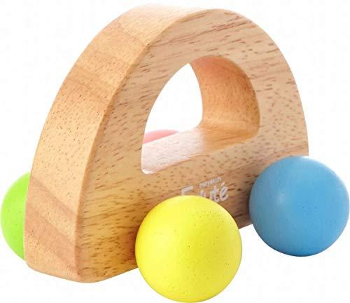 木のおもちゃ 知育玩具 ラトル がらがら KOROKORO CAR パステル 歯固め おしゃぶり 出産祝い プレゼント 音遊び 安心 安全 舐めても安心 0歳 1歳 Edute エデュテ