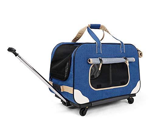 Mascotas Transport/ín Carrito Multiuso Carrito Perro 2 en 1 Mochila Carrito 62*35*39 cm B