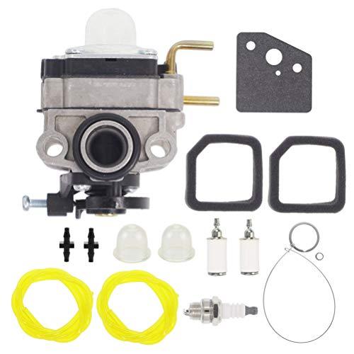 Hutdkte 753-06258A Carburetor + AC04122 Fuel Line Kit for Ryobi RY251PH RY252CS RY253SS RY254BC 25cc Engines