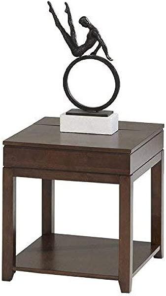 Progressive Furniture P531 04 Daytona Rectangular End Table Regal Walnut