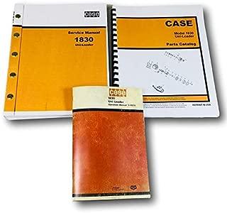 Case 1830 Uni Loader Skid Steer Service Parts Operators Manual Factory Shop Set