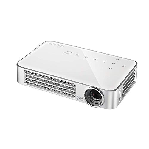vivitek Qumi Q6, kompakter LED-Projektor im Taschenformat, 800 Lumen, Wireless, 1280x800 Pixel, Beamer mit 2.5GB interner Speicher, HDMI und USB Eingang, weiß