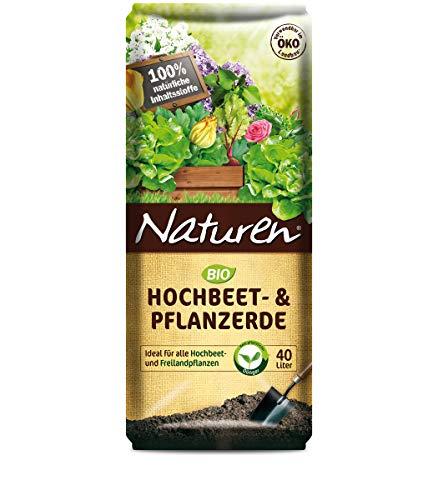 Naturen Bio Hochbeet- & Pflanzerde 40 Liter Pflanzgranulat Erde Garten