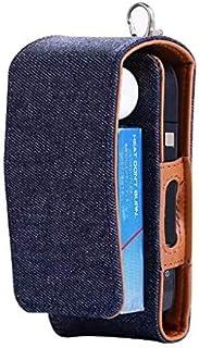 Lelesta Custodia protettiva completa per sigaretta elettronica iQOS, in similpelle e jeans (Blue)