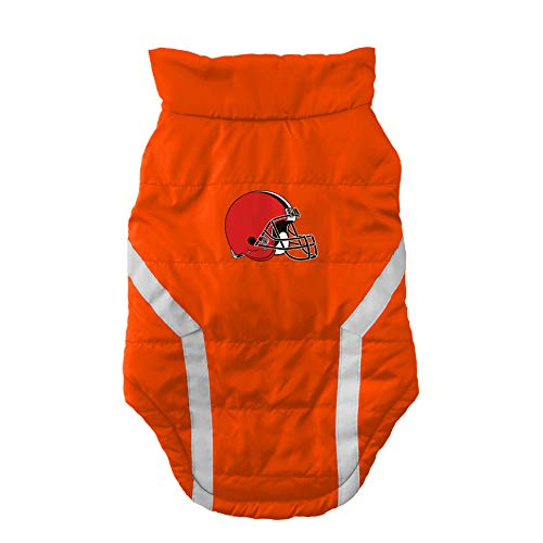 NFL Cleveland Browns Pet Puffer Vest, Medium