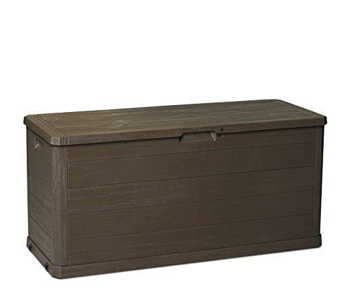 armadio da esterno effetto legno Toomax Baule Multibox Woody's 280L portattrezzi per Esterni