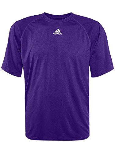adidas Mens Climalite Short Sleeve Shirt, Purple, XX-Large
