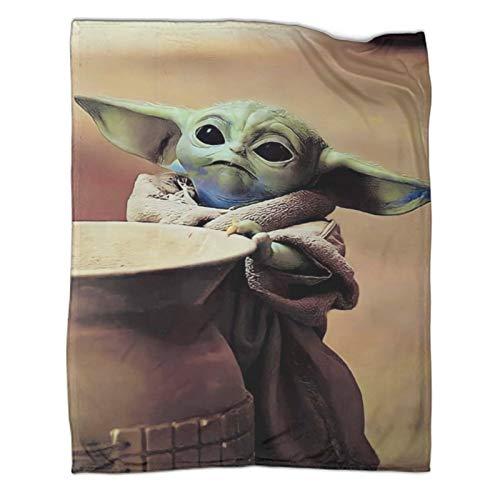 Manta cálida para todas las estaciones de NapStar Wars The Mandalorian Season 2 Baby Yoda Póster de aire acondicionado manta de 80 x 100 cm