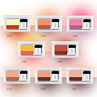 QZ Double Shimmer Eyeshadow Makeup Waterproof Mineral Powder Double Colors Glitter Eyeshadow (Color : 1)
