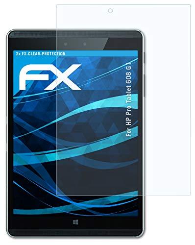 atFolix Schutzfolie kompatibel mit HP Pro Tablet 608 G1 Folie, ultraklare FX Bildschirmschutzfolie (2X)
