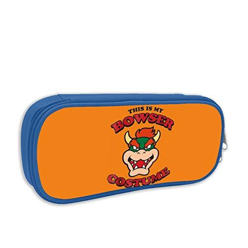 Bowser Kostuum Grote Capaciteit Potlood Case Bureau Potlood Student Stationery Box Opbergtas Eén maat Blauw