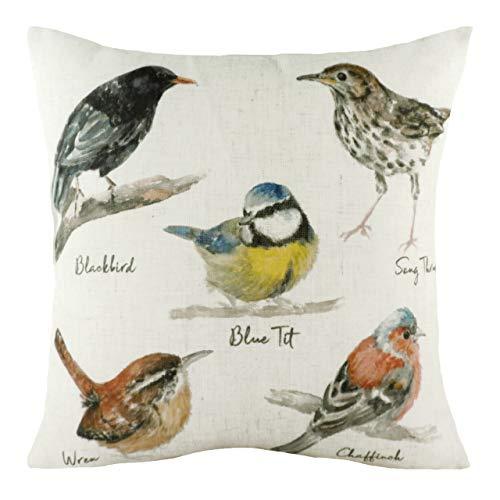 Evans Lichfield Species Birds Polyester Filled Cushion, Multi, 43 x 43cm