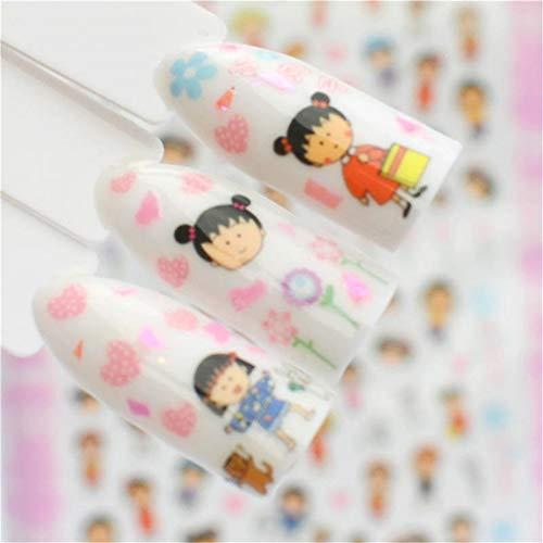 ZJIUYE Autocollant d'ongle 3D Nail Art Conseils Coloré Eté Estampage Mince Adhésif Autocollant Nail Décor Stickers Maquillage Outils B