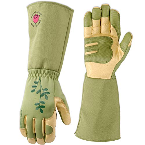 Women's Rose Pruning Rosetender Gardening Gloves with Forearm Protection (Wells Lamont 4127M)