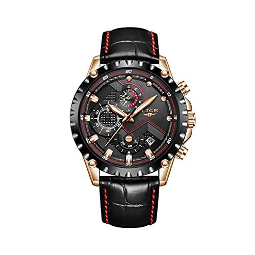 Reloj for hombres Top Luxury Brand Fashion Water Business Deportes Impermeable Cronógrafo Reloj de acero inoxidable Reloj de cuarzo for hombres Adecuado for lavado a mano, natación, deportes de oficin