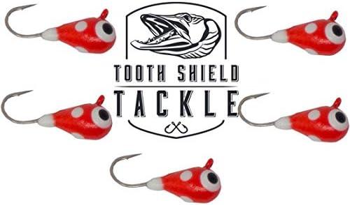 Tooth Shield Dallas Mall Tackle UV Glow Elegant Tungsten Jigs Rai 5-Pack Ice Fishing