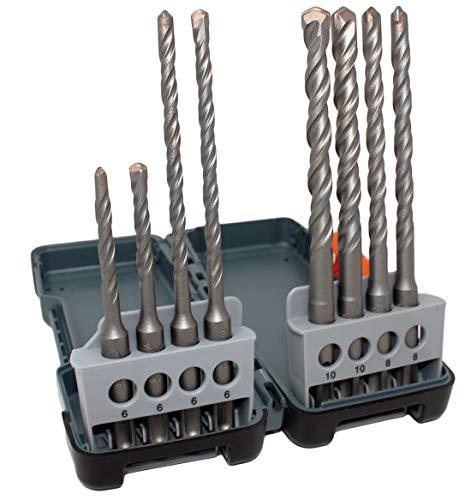 Hawera 8-delige SDS-Plus Power L Plus hamerboorset in doos (elk 2 x 6 x 50/110 mm, 2 x 6 x 100/160 mm, 2 x 8 x 100/160 mm, 2 x 10 x 100/160 mm)