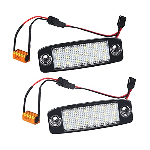 Aghami Luz de Placa 2pcs 1 LED 2V 3W Kit de Bombilla de lámpara de Placa para Hyundai Sonata YF 10MY GF 10 Luces de Placa Blanca de Canbus para Kia Sportage Placa LED