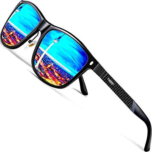 ATTCL Gafas De Sol Hombre Polarizadas Retro Estructura De metal Al-Mg 7001 Blue