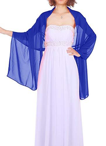 Dressystar Chiffon Stola Schal für Kleider in verschiedenen Farben Royalblau 200cm*50cm