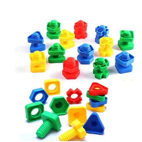 Forma 5 Piezas Tornillo Bloques De Construcción De Plástico Insertar...