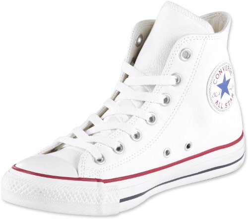 Converse Chucks Taylor All Star Hi Leder, Unisex - Erwachsene Sneaker, Weiß (Optical White), 39 EU