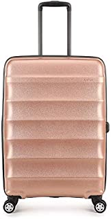 Antler - Juno 2.0 Metallic DLX 68cm Medium Hardside 4 Wheel Suitcase - Rose Gold