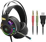 ERT RGB versión 3,5 mm Plug Wired Gaming Auriculares, PC...