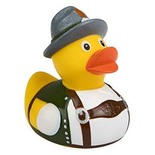 Quietsche-Ente Trachten Bayer Badespaß Gummiente Quitschente Badeente Badespielzeug