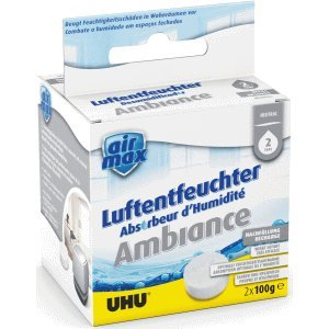 UHU 6 x Luftentfeuchter Airmax Ambiance Tabs neutral VE=2x100g