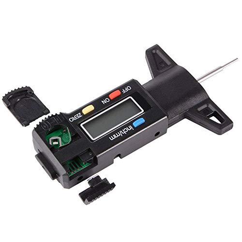 BOHENG Herramientas de reparación automática, indicador Digital de la Huella de la Banda de Rodadura del neumático, medidor de Profundidad de pisada neumático, Calibre 0-25.4 mm, sonda de Metal