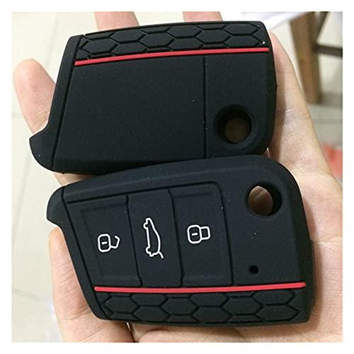 GUANGMING ZhengFeng Shop - Funda protectora para llave de coche para Volkswagen Polo Golf 7 MK7, compatible con Skoda Octavia Combi A7, compatible con Seat Leon Ibiza CUPTRA (nombre del color: negro)