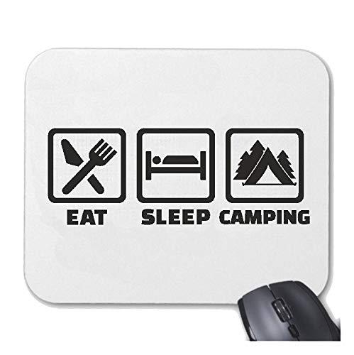 Helene muismat muismat camping eten - tellen - woONMOBIEL - vakantie - tent voor uw laptop, notebook of internet PC met Windows Linux in wit
