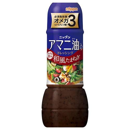 日本製粉 ニップン アマニ油入りドレッシング 和風たまねぎ 300ml×12本入×(2ケース)