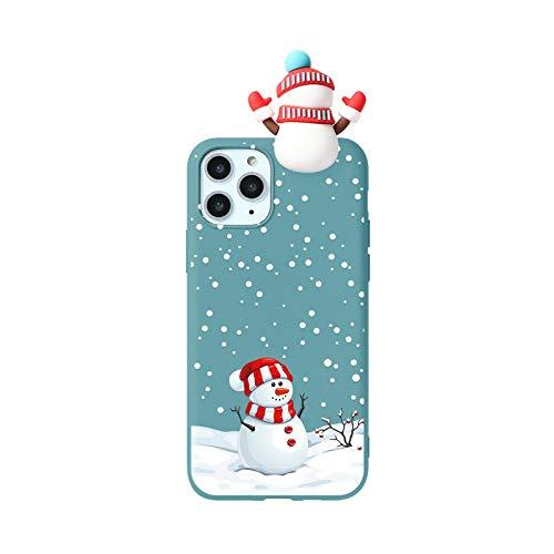 Caso de dibujos animados de Navidad 3D para Huawei P30 P40 P20 P10 Mate 30 20 10 Lite Pro Plus P Smart 2019 carcasa de silicona de ciervo lindo Capa-Kxhl-sdxrsg-P30