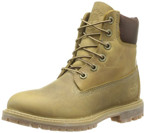 Timberland, Af 6In Prem Annivrsr Yellow, Stivali, Donna, Giallo (Wheat Burnished), 38