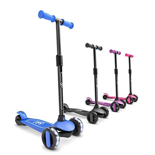 6KU Scooter for Kids Ages 35 with Flash Wheels  Kids Scooter 4 Adjustable Height Toddler Scooter ExtraWide PU LED Wheels 3 Wheel Scooter for Kids for Girls amp Boys Learn to Steer
