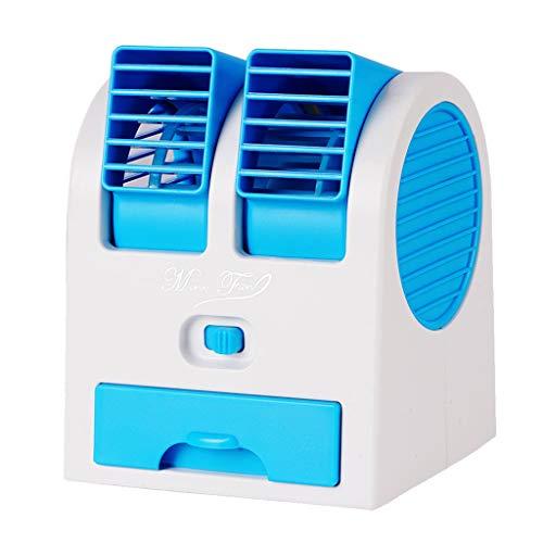 Sunnymi - Ventilador de mesa portátil, pequeño aire acondicionado para el hogar, pequeño, 3 velocidades, humidificador, ventilador de escritorio, para el hogar y la oficina
