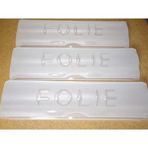 1a-becker 3er Set Folienspender für Alu- und Frischhaltefolie Folienabroller Folienhalter Folien Spender