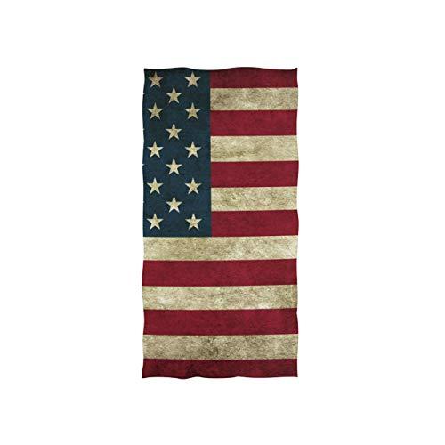 CPYang Handtuch Vintage USA Amerika Flagge sehr saugfähig Handtuch für Zuhause Küche Bad Gym Schwimmen Spa