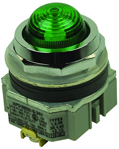 IDEC - APD1QH2DNUG - Panel Indicator, Green, 120VAC, Screw