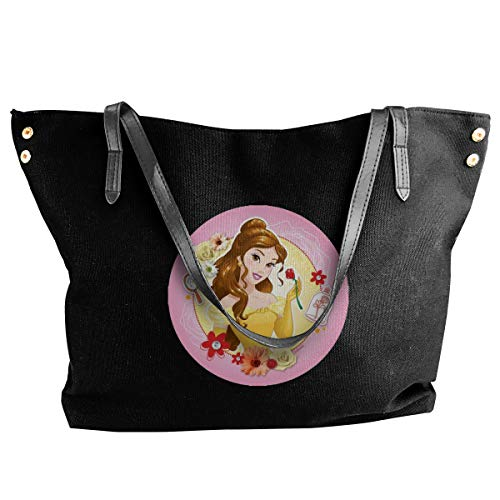 Belle Princess Women Style Canvas Large Tote Top Handle Bag Shopping Hobo Shoulder Bag, Large Size 18.1'' X 4.9'' X 12.99''