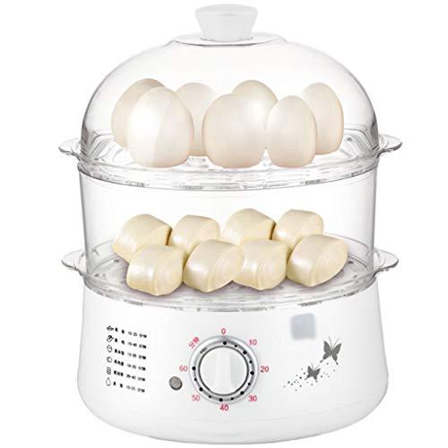 Cuiseur à oeufs, capacité de 14 œufs, poêle à frire électrique, double couche unique, 0 à 60 min peut être chronométré