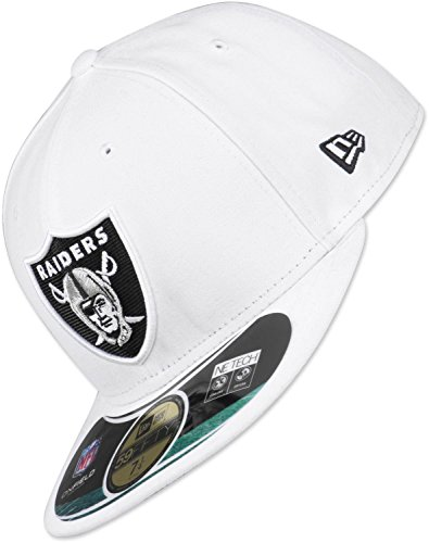 New Era - Casquette Fitted Homme Oakland Raiders 59Fifty On Field - White - Taille 7 1/2