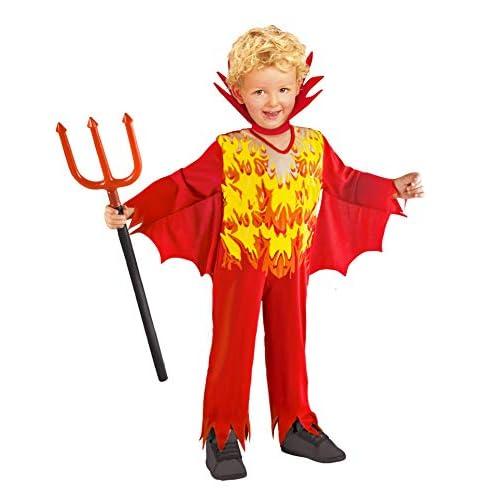 Ciao-Costume bambino Diavoletto, 3-4 anni, Rosso/Giallo, 61328.3-4.DS