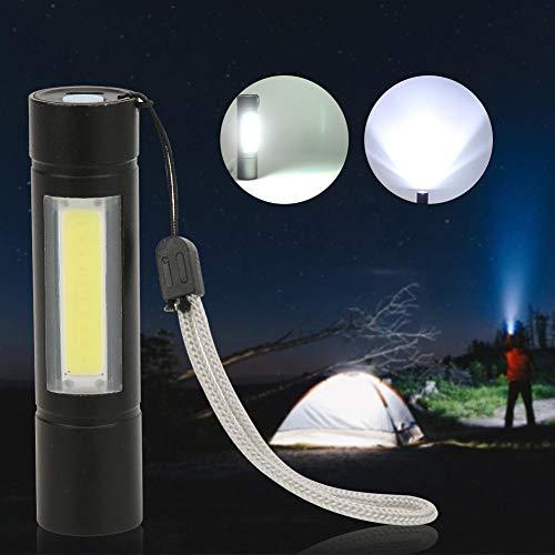 Fdit Mini Camping Adventure Torch LED COB Aluminiumlegierung USB-Ladetasche für die Außenbeleuchtung