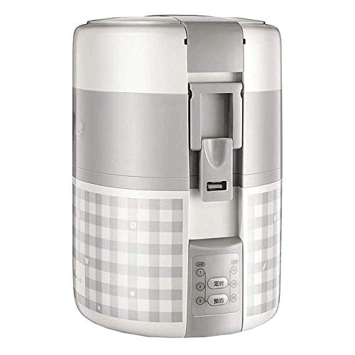Mini rijstkoker, Electric Lunch Box, Travel rijstkoker Kleine, verwijderbare Non-stick Pot, warmhoudfunctie, geschikt for 1-2 personen - for Het Koken soep, rijst, stoofschotels, granen havermout AQUI