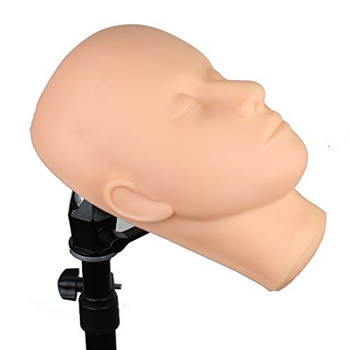 Dreamhair Soft Skin Massage and Makeup Face Fine Quality Makeup Trainning Mannequin Head with Eyes on It for Eyelash Practice